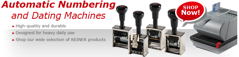 AUTOMATIC NUMBERING AND DATING MACHINES