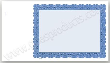 8.5x15 Certificate blanks