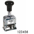 Metal Self-Inking Automatic Number Stamp