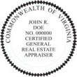 Certified General Real Estate Appraiser