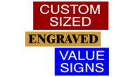 Custom Sized Signs