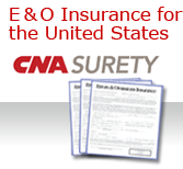 E & O INSURANCE FOR THE UNITED STATES