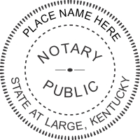 The Kentucky Notary Seals Image Above Is Most Recent Seal Format For Stamps Are Manufactured In Accordance With International