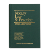NOLP - Notary Law & Practice: Cases & Materials