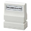 Protect yourself with the Xstamper Secure Stamp Small. The special black ink obscures private information.  Perfect for hiding personal information so that it can't be easily read, scanned or copied.