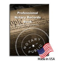 Required by law in many states, this notary records book is the most effective and reliable way to protect your Notarial Actions.  This book helps you adhere to proper notary procedures, visit Rubberstampsandseals.com